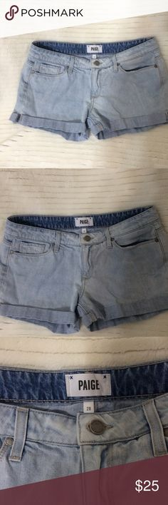 Paige jimmy jimmy shorts Light washed jimmy jimmy shorts. In great condition. Run like a boyfriend short, loose and casual. Very comfortable. Paige Jeans Shorts Jean Shorts