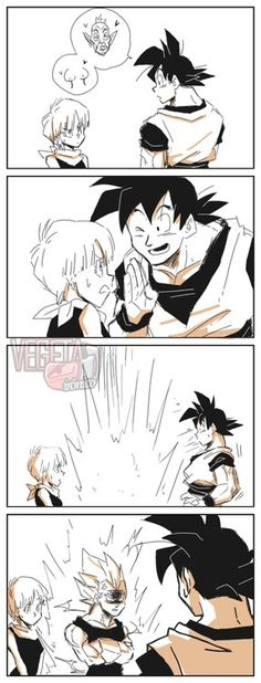 Vegeta is not amused by your shenanigans Goku