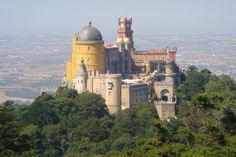 Pena Palace in Sintra, Portugal is the oldest palace inspired by European Romanticism.