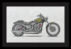 Harley Motorcycles Framed Print featuring the photograph…