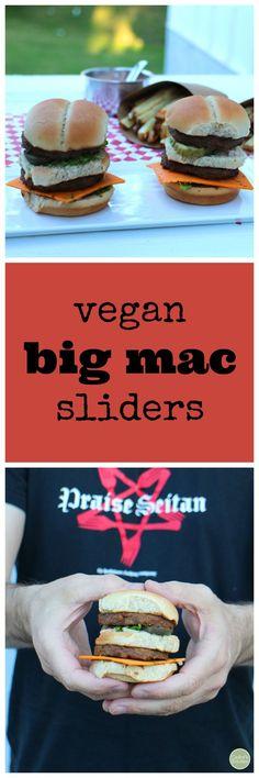 Vegan Big Macs in slider form. Too cute! | cadryskitchen.com
