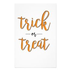 trick or treat halloween orange black simple stationery - simple clear clean design style unique diy