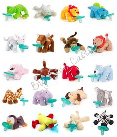 New Wubbanub Infant Baby Soothie PACIFIER ~ they have a hippo! And an elephant!!