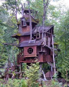 TREE HOUSE – I everyone loves tree houses, especially multi-level ones like this.