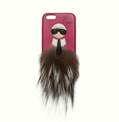 Fendi iPone cover from the Karlito capsule collection, available exclusively on the Fendi Digital Boutique in Europe