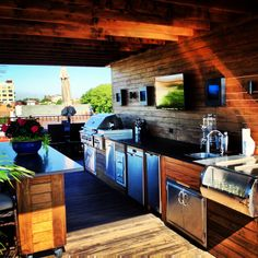 Chicago Rooftop Deck with outdoor kitchen and island......its us!