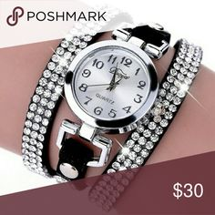 1pc Rings tone leather wrist watch Ladies bracelet watch Jewelry Bracelets