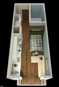 Above Garage Guest House Living in a box: An overview of a 300 square-foot apartment proposed for San Francisco