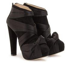 satin ankle boots...