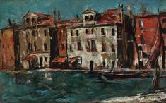 Gheorghe Petrașcu - Case la Chioggia Venice Biennale, Bucharest, Romania, Country, Noiembrie, 1 Mai, Laundry Hacks, Europe, Paintings