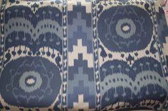Schumacher Samarkand Ikat in Porcelain:  I adore this fabric.