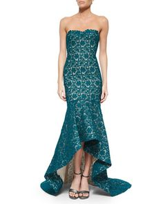 Sleeveless Lace Mermaid Gown by Monique Lhuillier at Bergdorf Goodman.