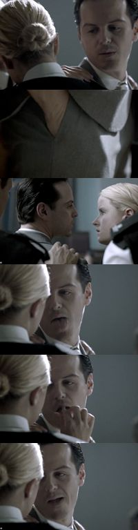 """""""Would you mind slipping your hand into my pocket."""" Only Andrew Scott can be both sexy and creepy at the same time."""