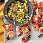 Cider-Poached Shrimp with Jezebel Apple Salsa Recipe | MyRecipes.com
