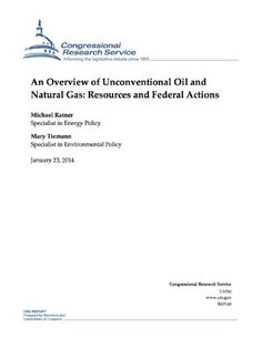 Download free An Overview of Unconventional Oil and Natural Gas: Resources and Federal Actions pdf