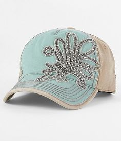 Olive Pique Embellished Hat. Want!