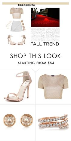"""""""Red Carpet Rose Gold"""" by nakaweesa ❤ liked on Polyvore featuring Windsor Smith, Topshop, Michael Kors, Anita Ko, Diane Kordas, women's clothing, women, female, woman and misses"""