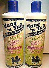 Mane 'n Tail Herbal Gro Shampoo & Conditioner Olive Oil Complex 12 oz The Herbal Gro System provides healthy hair results with an exclusive natural blend of Hair Growth Tips, Hair Care Tips, Fast Hair Growth Shampoo, Biotin Hair Growth, Hair Shampoo, Natural Hair Tips, Natural Hair Styles, Natural Beauty, Organic Beauty