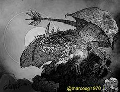 Marcelo Marcos Gutierrez: #dragón, #mitología, #mitology, #china, #inktober,...