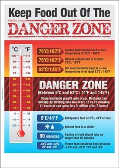 Food Temperature Danger ZoneYou can find Food safety and more on our website. Food Safety Training, Food Safety Tips, Danger Zone, Food Out, Safe Food, Food Safety And Sanitation, Food Shelf Life, Food Temperatures, Food Truck Business
