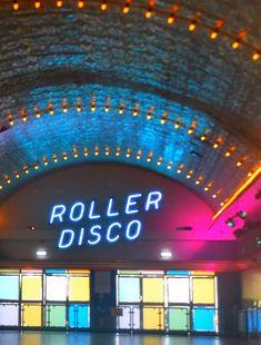 Roller Disco, Neon Sign Color: Blue Finish: Plastic Dimensions: L x Roller Rink, Roller Disco, Disco Roller Skating, Roller Derby, 70s Aesthetic, Aesthetic Vintage, Aesthetic Pictures, Festival Looks, Boogie Wonderland