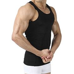 b46ebf67adde7 Amazon.com   Image Men s Body Shaper for Men Slimming Shirt Tummy Waist  lose Weight Compression Shirt (Middle)   Sports   Outdoors