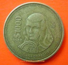 1000 Pesos Mexican coin 1988