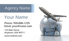 Travel Agent Business Card Template. Make your own business card with this great design