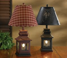 York Mini Check Lampshade By Park Designs Wine Navy Or