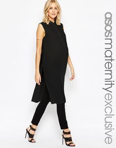 f35e79c4db61c ASOS Maternity Sleeveless Longline Maxi Blouse Asos Maternity, Maternity  Fashion, Maternity Tops, Pregnancy
