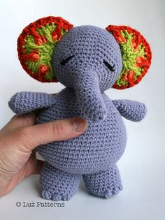 Ravelry: Crochet patterns, amigurumi doll pattern, Elsie elephant doll pattern (135) pattern by Luz Mendoza