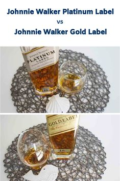 Side by side Comparison: Johnnie Walker Platinum Label vs Gold Label whisky Blended Whisky, Whisky Tasting, Malt Whisky, Gold Labels, Cigar, Whiskey, Alcoholic Drinks, Notes, Whisky