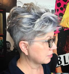 90 Classy and Simple Short Hairstyles for Women over 50 - Over Short Curly Undercut Hairstyle - Modern Short Hairstyles, Hairstyles Over 50, Pixie Hairstyles, Short Hairstyles For Women, Cool Hairstyles, Hairstyle Short, Newest Hairstyles, Shaved Hairstyles, Hairstyles 2018