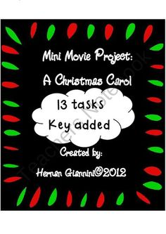 A Christmas Carol: Mini Movie Project (13 tasks and key) from Hugs in! on TeachersNotebook.com (13 pages)  - This is a mini movie project based on the movie: A Christmas Carol interpreted by Jim Carrey