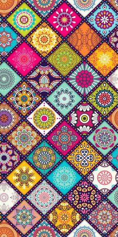 Wallpaper s, hippie wallpaper, colorful wallpaper, cellphone wallpaper, pat Mandala Wallpaper, Colorful Wallpaper, Flower Wallpaper, Pattern Wallpaper, Wallpaper Backgrounds, Hippie Wallpaper, Pink Chevron Wallpaper, Mandala Art, Mandala Design