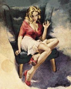 Vintage pulp fiction magazine cover art and related illustrations. Comics Vintage, Vintage Books, Vintage Art, Estilo Gigi Hadid, Pulp Fiction Book, Pulp Magazine, Book Cover Art, Pulp Art, Up Girl
