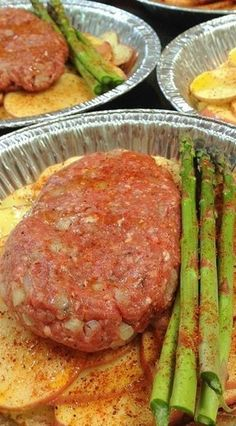 Hobo Dinners Using Foil Pie Pans: Cover with Foil, and Bake at 400 Degrees for 35-45 Minutes, or until Potatoes are Fork Tender. You Can also Cook These on The Grill.