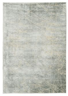 Etched Light Wool and Viscose Area Rug in Mercury design by Calvin Klein Home