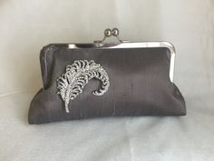 FEATHER CLUTCH bridesmaid gifts with by franklymydearvintage