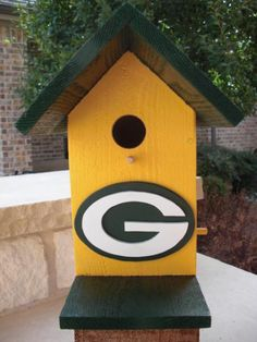 Birdhouse - Greenbay Packers by ABCbirdhouses   Other teams available