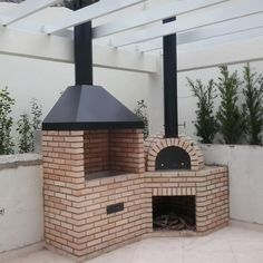 Backyard Kitchen, Outdoor Kitchen Design, Backyard Patio, Design Grill, Barbecue Design, Outdoor Fireplace Designs, Backyard Fireplace, Small Outdoor Kitchens, Outdoor Rooms