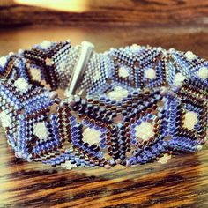 Peyote and herringbone stitch