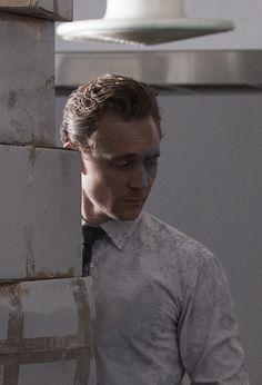 "Tom Hiddleston in ""High Rise."""
