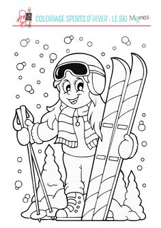 Christmas Carnival, Bible Coloring Pages, Hidden Pictures, Carnival Themes, Skiing, Snowman, Diy And Crafts, Images, Sketches