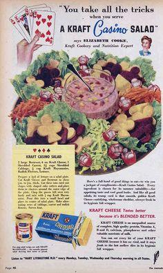Kraft Casino Salad, 1949. No one is a winner at the Kraft casino