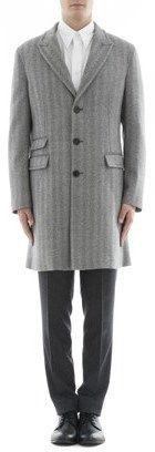 Neil Barrett Men's Grey Wool Coat.