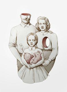 London based illustrator Maria Tiurina has created this illustration for INDIE magazine's anniversary issue