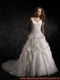 Brautkleider prinzessin 2012 elegant aus Satin und Organza Ballrock mit Schleppe