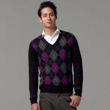 セーター(アーガイルVネックセーター)【大きいサイズあります】 | MKオム(MK homme) | ファッション通販 マルイウェブチャネル