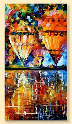 Balloon Reflections  Limited Edition Colorful by AfremovArtStudio